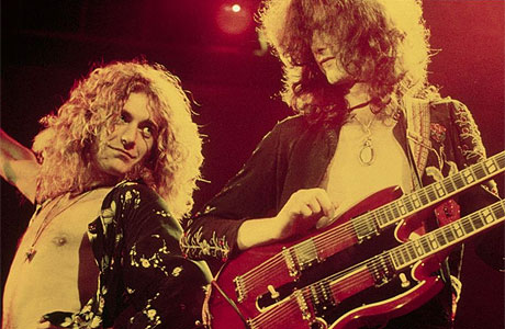 Robert Plant (left) and Jimmy Page